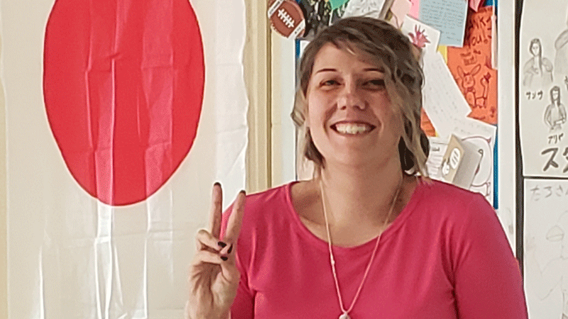 Before Tanya Schubert began teaching Japanese to Findlay High School students, she taught English to students in Japan.
